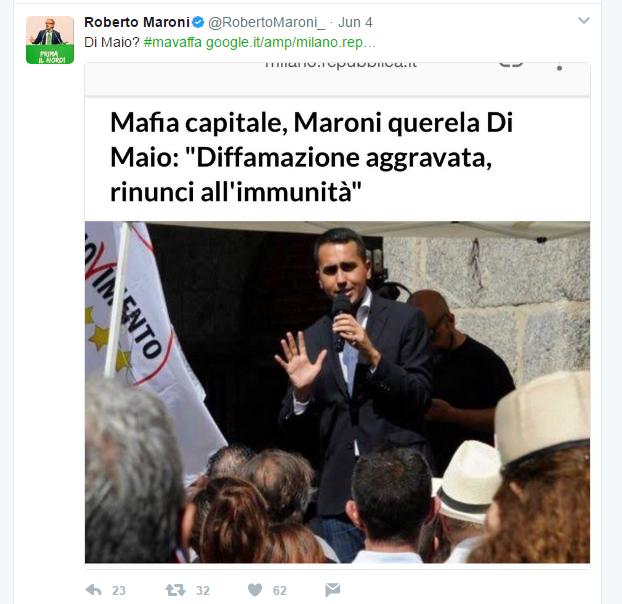 roberto maroni querela di maio campi rom roma - 1
