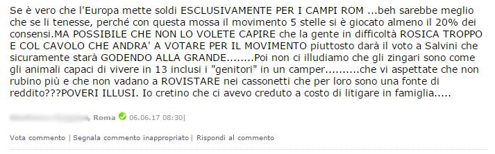virginia raggi campi rom capolavoro - 4