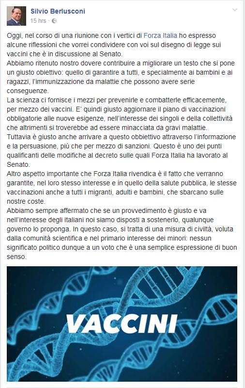 berlusconi vaccini no vax - 1