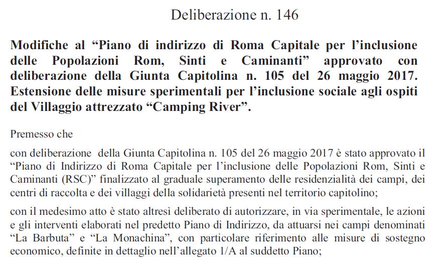campi rom roma capitale raggi monachina barbuta river - 3