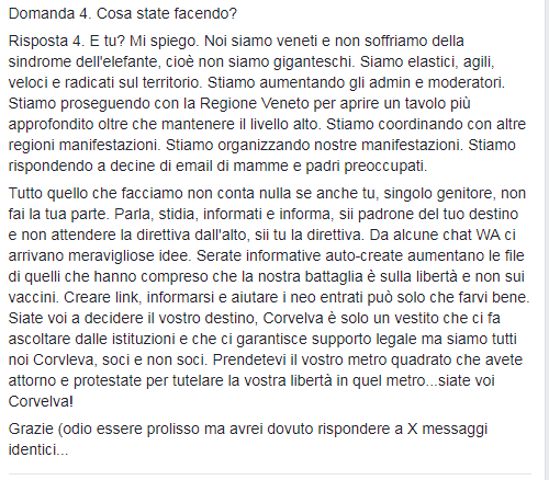 corvelva free vax decreto vaccini obbligatori - 5