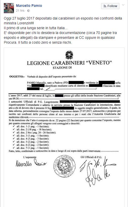 esposto lorenzin vaccini obbligatori - 1