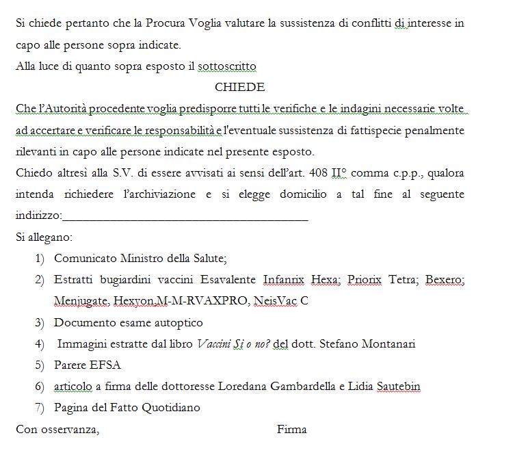 esposto lorenzin vaccini obbligatori - 2