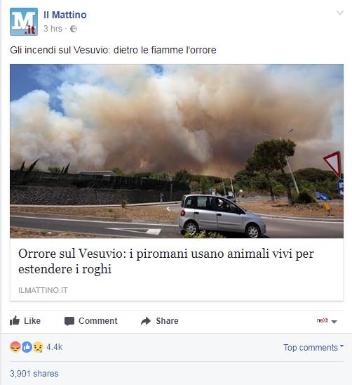 Disastro Vesuvio, le famiglie sfollate nelle palestre: fiamme vicine alle case