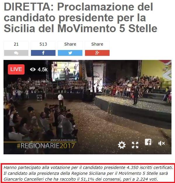 M5s: Grillo e Casaleggio a Palermo per lancio campagna Sicilia