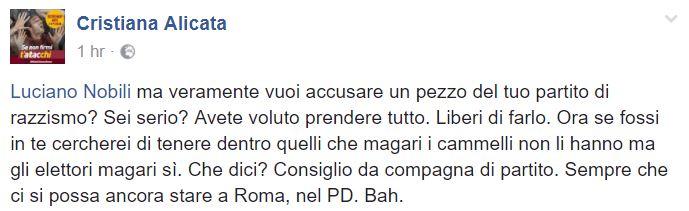 pd roma sibi mani cristiana alicata