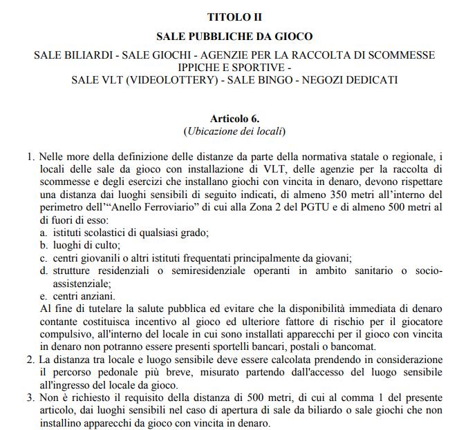 regolamento slot sale gioco roma - 2