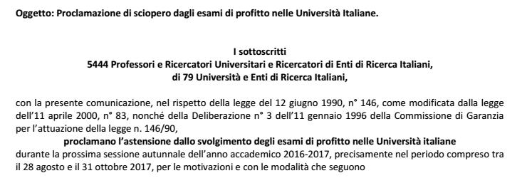 sciopero settembre professori università - 1
