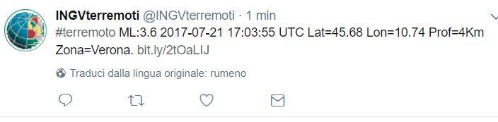 terremoto verona