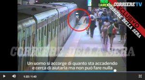video donna trascinata metro macchinista 5