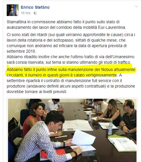 Enrico stefano filobus roma rotti - 1