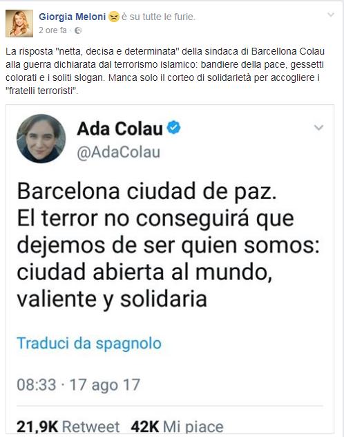 ada colau attacco terrorismo barcellona - 2