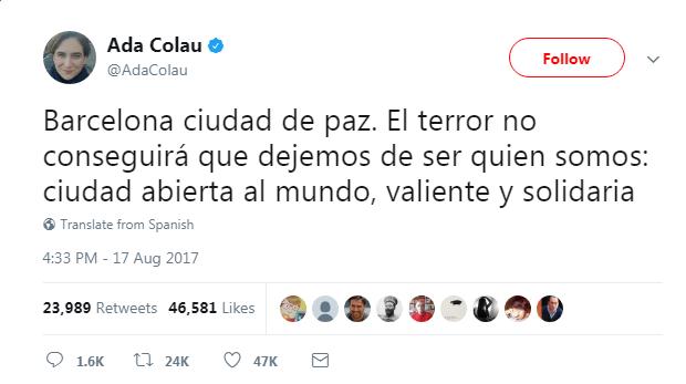 ada colau attacco terrorismo barcellona - 3