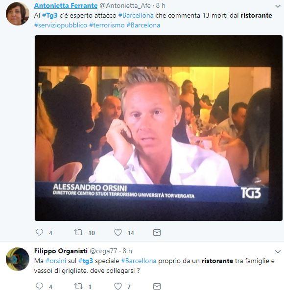 attentato barcellona tg3 ristorante 1