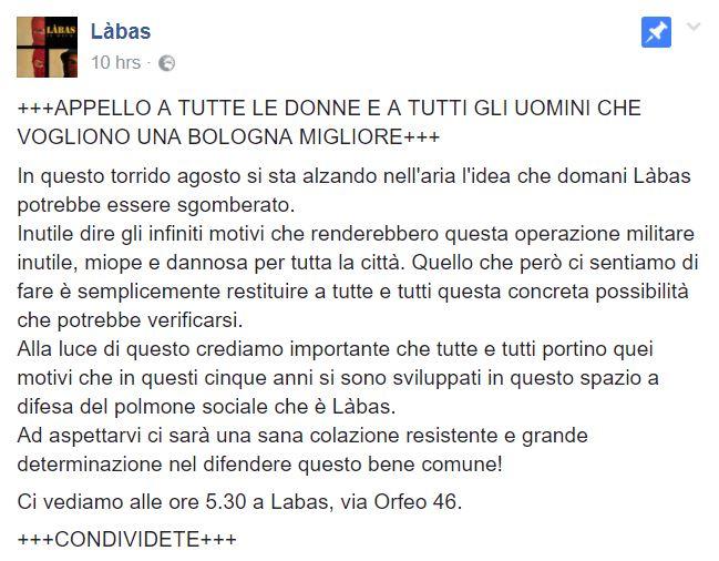 Sgombero ex caserma occupata a Bologna, scontri