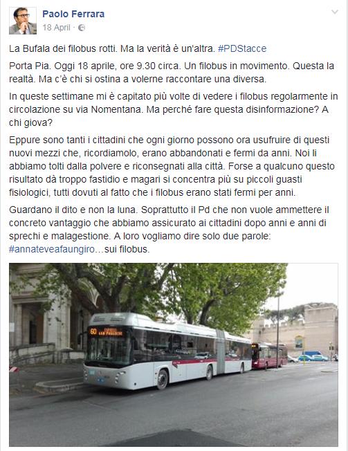 paolo ferrara filobus roma rotti - 1