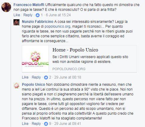 popolo unico stato corporation italia autocertificazione - 2