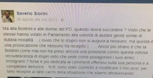 Abusi Rimini, salviniano su Fb: a Boldrini e donne Pd quando?
