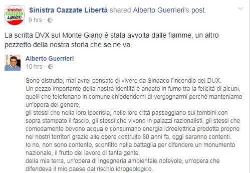 scritta dux rieti monte giano incendio antrodoco - 2