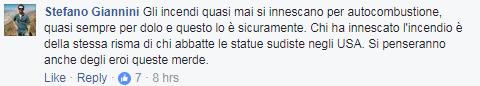 scritta dux rieti monte giano incendio antrodoco - 3