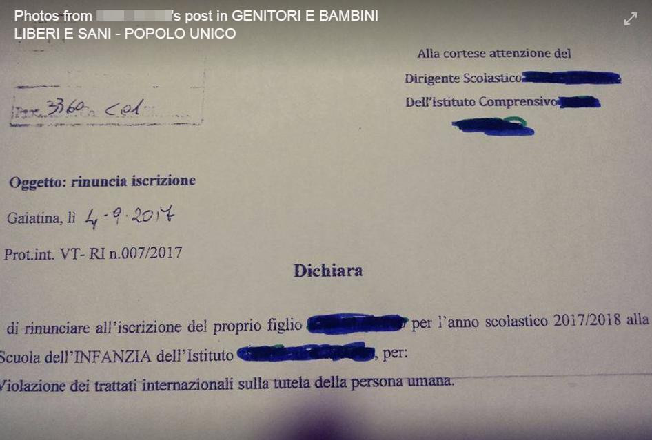 antivax scuola certificazioni - 6