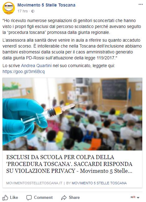 bambini scuola toscana vaccini obbligatori - 1