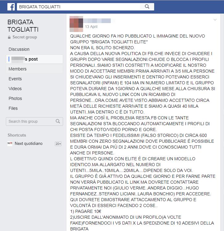 brigata togliatti facebook social network - 4