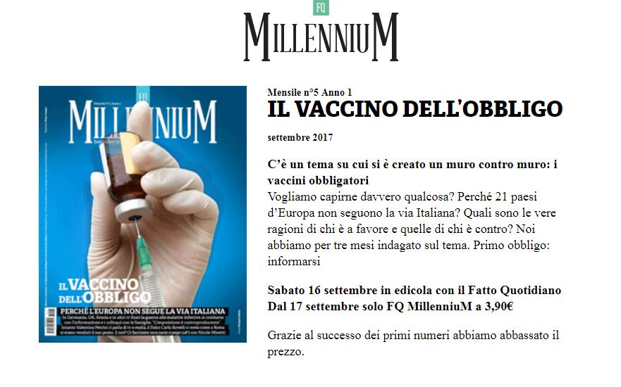 fq millennium vaccino inchiesta vaccini fatto quotidiano dario miedico - 1