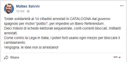 lega nord referendum veneto lombardia catalogna - 1