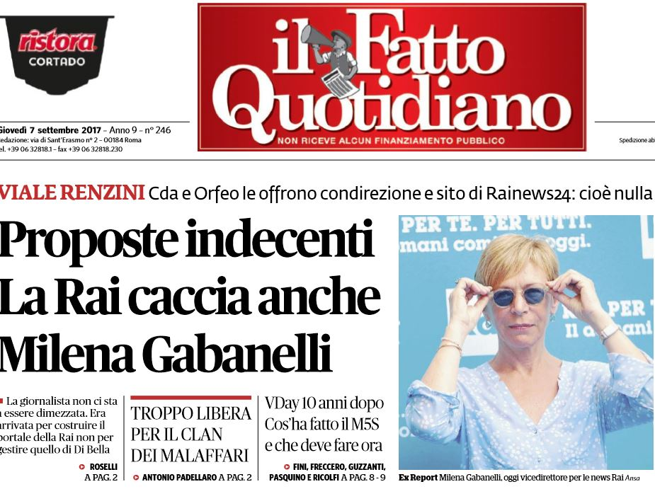 Rai, taglio del 30% a Bruno Vespa. Gabanelli condirettore Rainews?