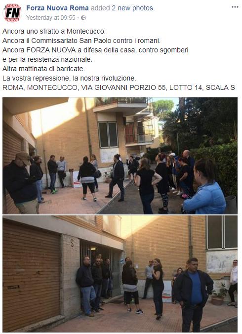 roma ai romani forza nuova famiglia appartamento ater montecucco - 1