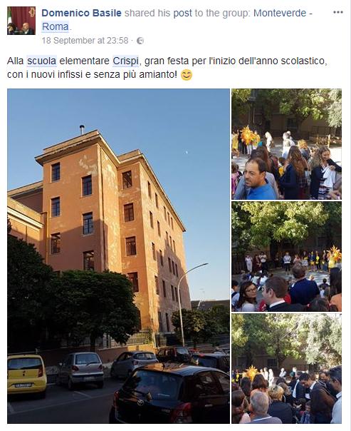 scuola crispi amianto monteverde roma - 1