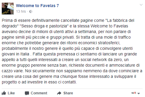 welcome to favelas lucarelli social network - 1
