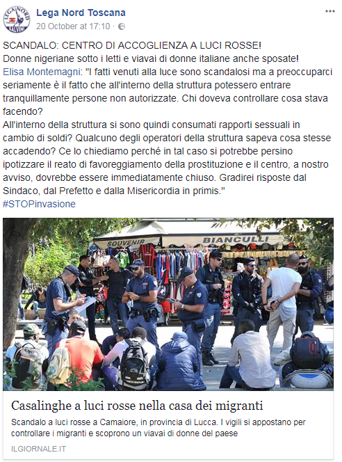camaiore offese donne - 2