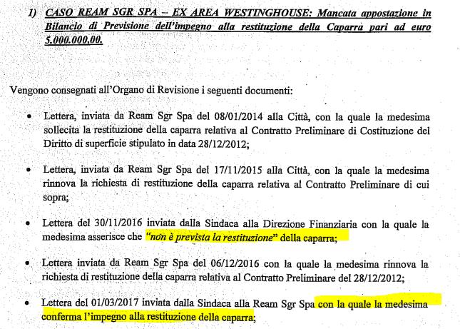 chiara appendino ream westinghouse caparra 5 milioni falso in bilancio - 1