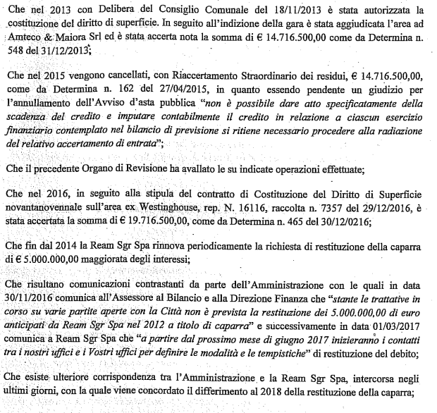 chiara appendino ream westinghouse caparra 5 milioni falso in bilancio - 2