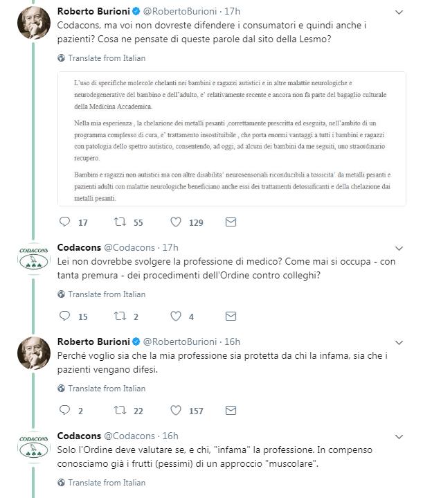 codacons radiazione lesmo vaccini autismo burioni -1