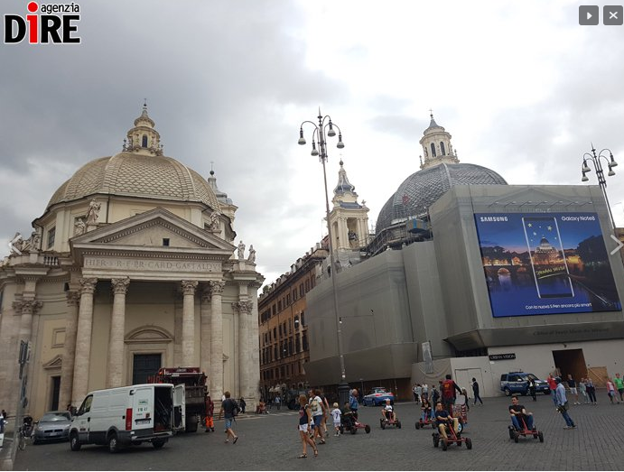 colore cupole chiese gemelle piazza del popolo - 2
