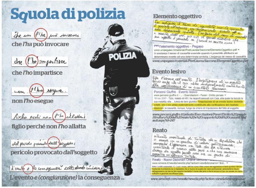 errori polizia