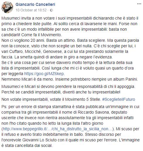giancarlo cancelleri lombardo impresentabilo sciuto savona - 3