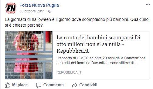 halloween forza nuova proteste - 1