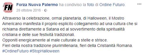 halloween forza nuova proteste - 3