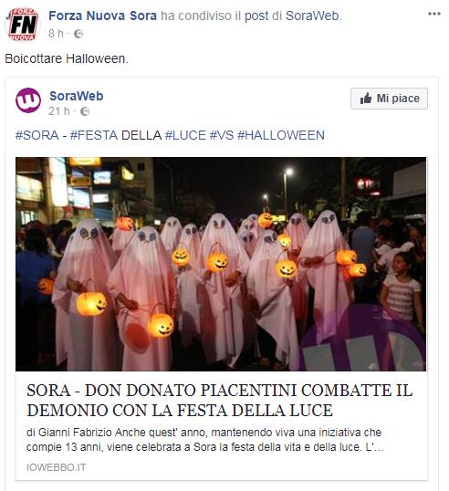 halloween forza nuova proteste - 7