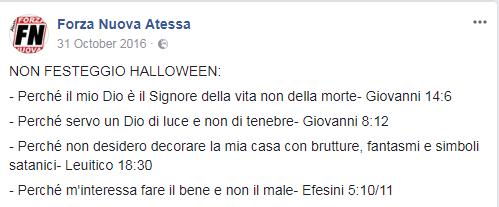 halloween forza nuova proteste - 8