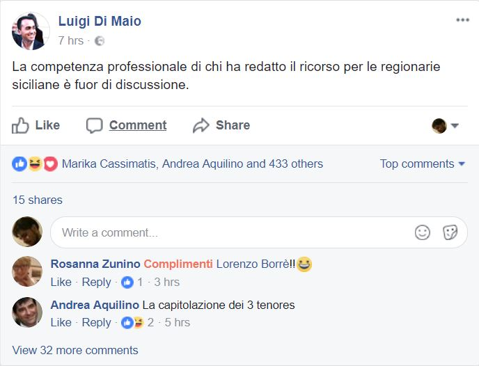 lorenzo borré luigi di maio