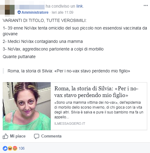 mamma incinta morbillo roma corvelva no vax - 1
