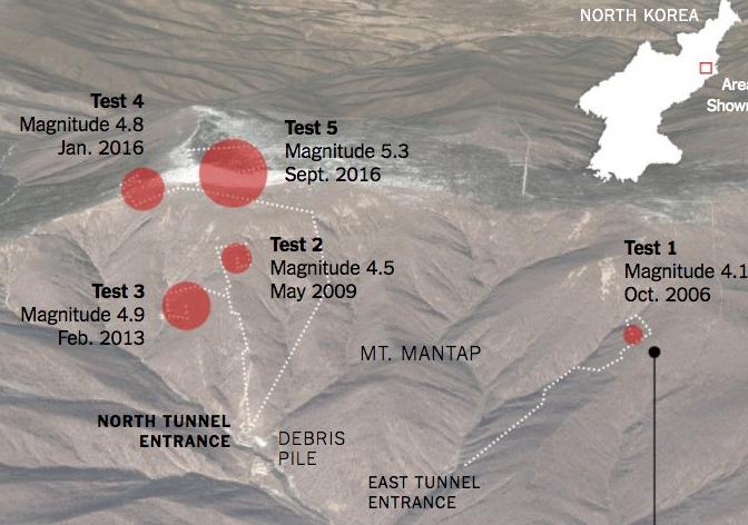 punggye-ri test nucleare tunnel incidente corea del nord - 1