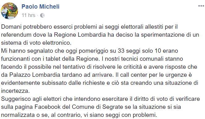 referendum per l'autonomia di veneto e lombardia tablet