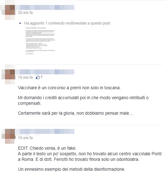 roma ponti circolare interna centro vaccinale fake - 7