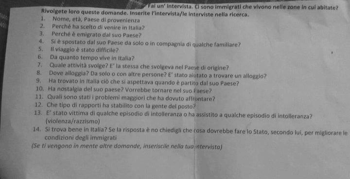 scuola trieste interviste migranti immigrati compito per casa - 2